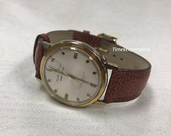 a026 Vintage Original 1950s Matthey Doret Electronic Transistored 17J Wrist Watch