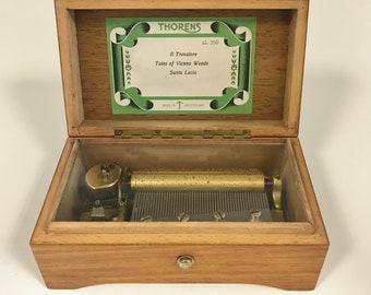 f222 Vintage Thorens Movement Switzerland Musical Box Il Trovatore Tales of Vienna Woods Santa Lucia