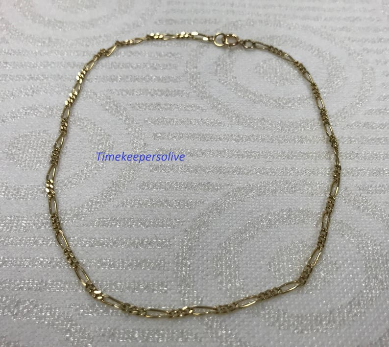 a203 Beautiful 14k Yellow Gold Oval Links Chain 9 Cute Bracelet Perfect Gift