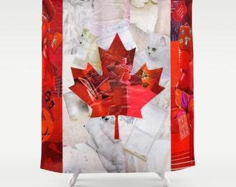 Rode Accessoires Badkamer : Kunst aan de muur canada canada vlag canada day canadese etsy
