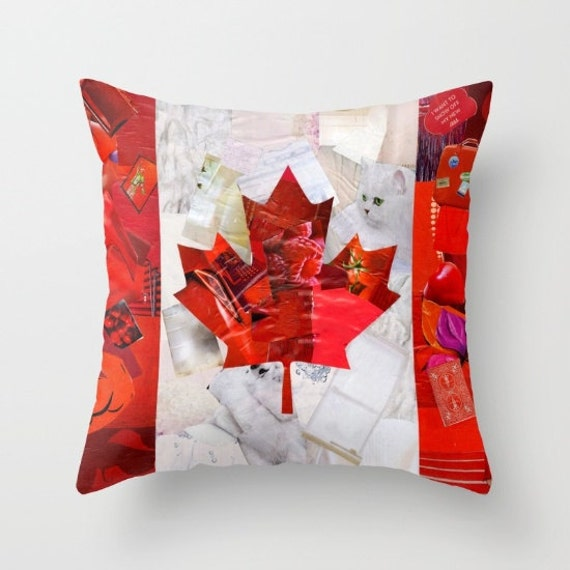 Canada Flag Pillow COVER Decorative Pillow Cover Canadian Etsy Awesome Decor Pillows Canada