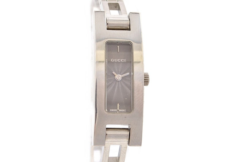 6560462cd44 Vintage Gucci Tonneau 3900L Stainless Steel Ladies Quartz