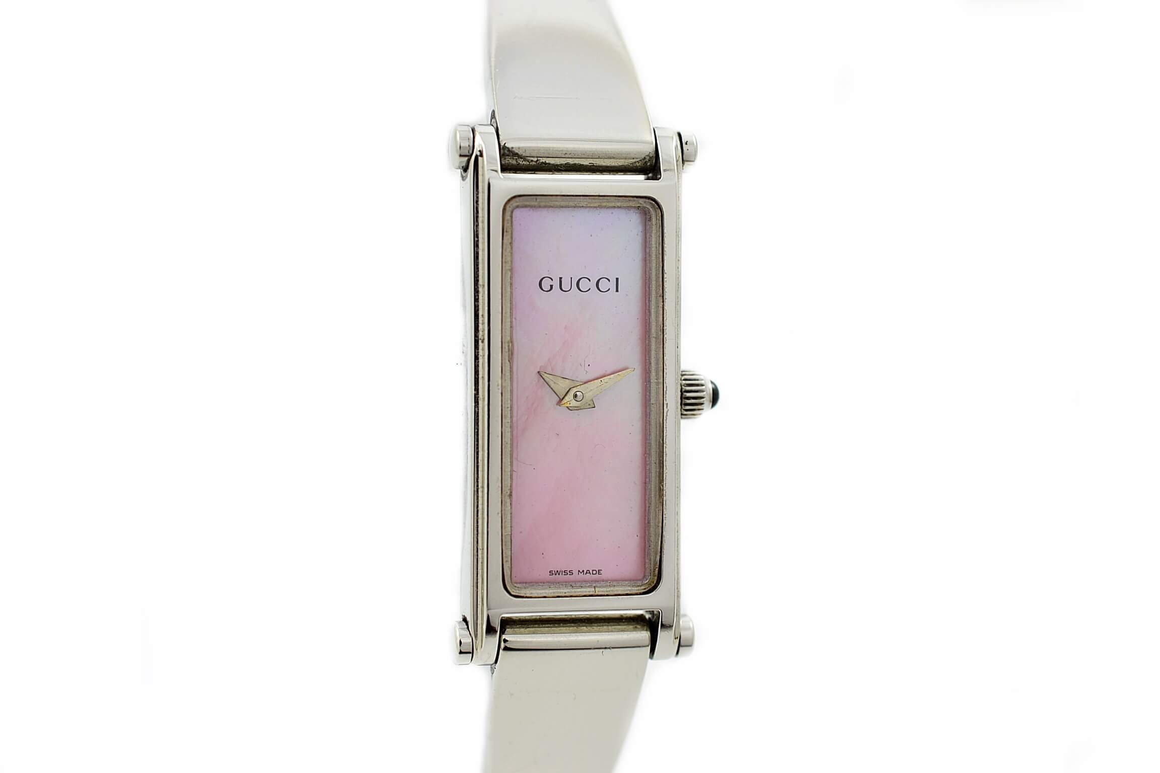 f9642459ba3 Vintage Gucci 1500L Mother of Pearl Stainless Steel Ladies