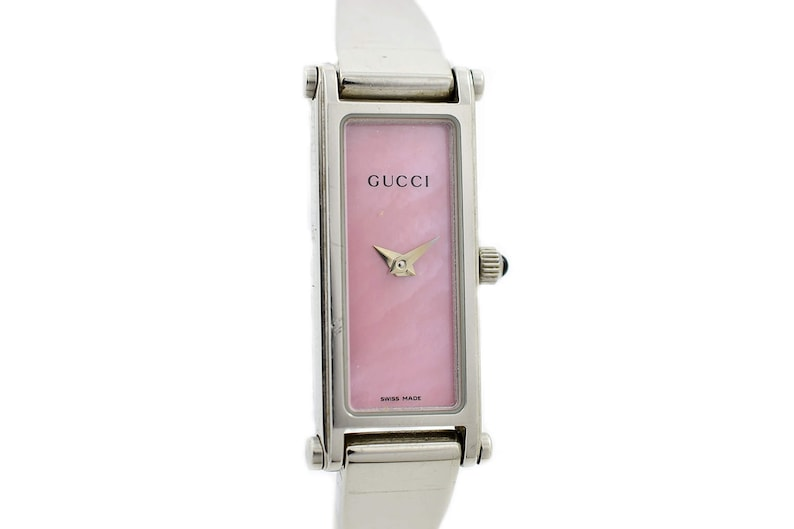 480d723b9df Vintage Gucci 1500L Mother of Pearl Stainless Steel Ladies