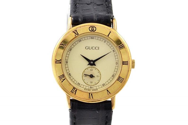 614102990 Vintage Gucci 3000.2.L Ladies Quartz Gold Plated Watch 1374