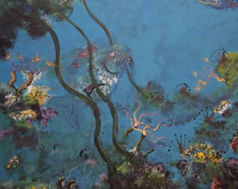 "Fish In Kelp  24""x36"" original"