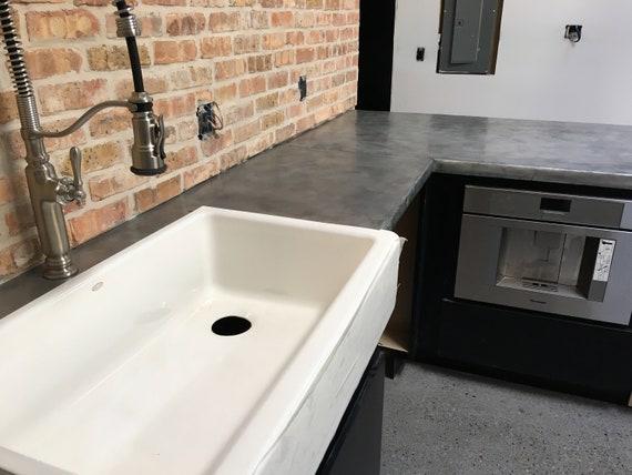 Custom Zinc or Copper Clad Countertops