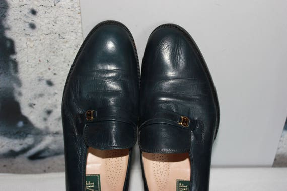 Italy Leather Shoes Womens Oxfords Flats Dark Blue Peacock Spruce Black Loafer Pumps Elegant Medium Heel Round Toe Booties Dance Tap Shoes