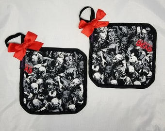 Zombies with Bows Pot Holders!