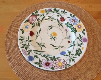 "Vintage Coalport Dinner Plate, 10 7/8"", Bone China, Made in England, ""Flourish"" Pattern, 1977-83"