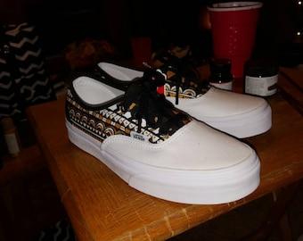 edbc4984bf3 White Tribal Vans