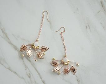 Rose Gold Earrings, Stellar Wedding Jewelry, Accessories, Rosegold bridal, Mix Metal, Bridal accessories, Rosegold Earrings, Wedding Jewelry