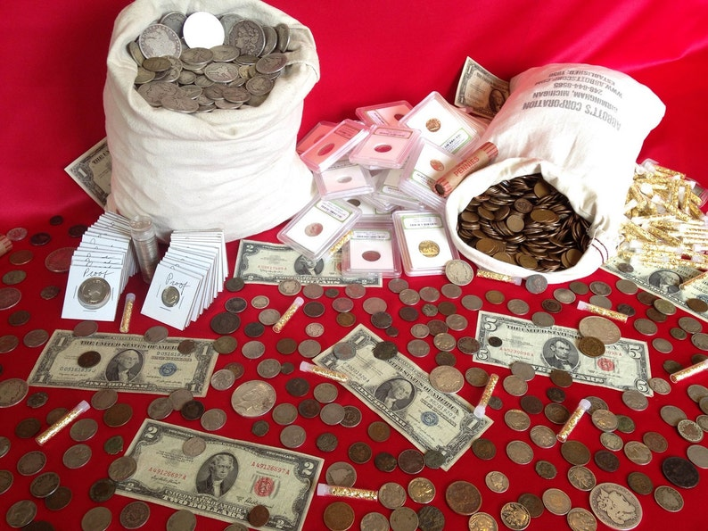 Estate Lot Sale! Old US Coins - Gold / Silver / Currency / Proof / Ancient  - Each Collection Includes 25+ Items! UNBEATABLE VALUE!