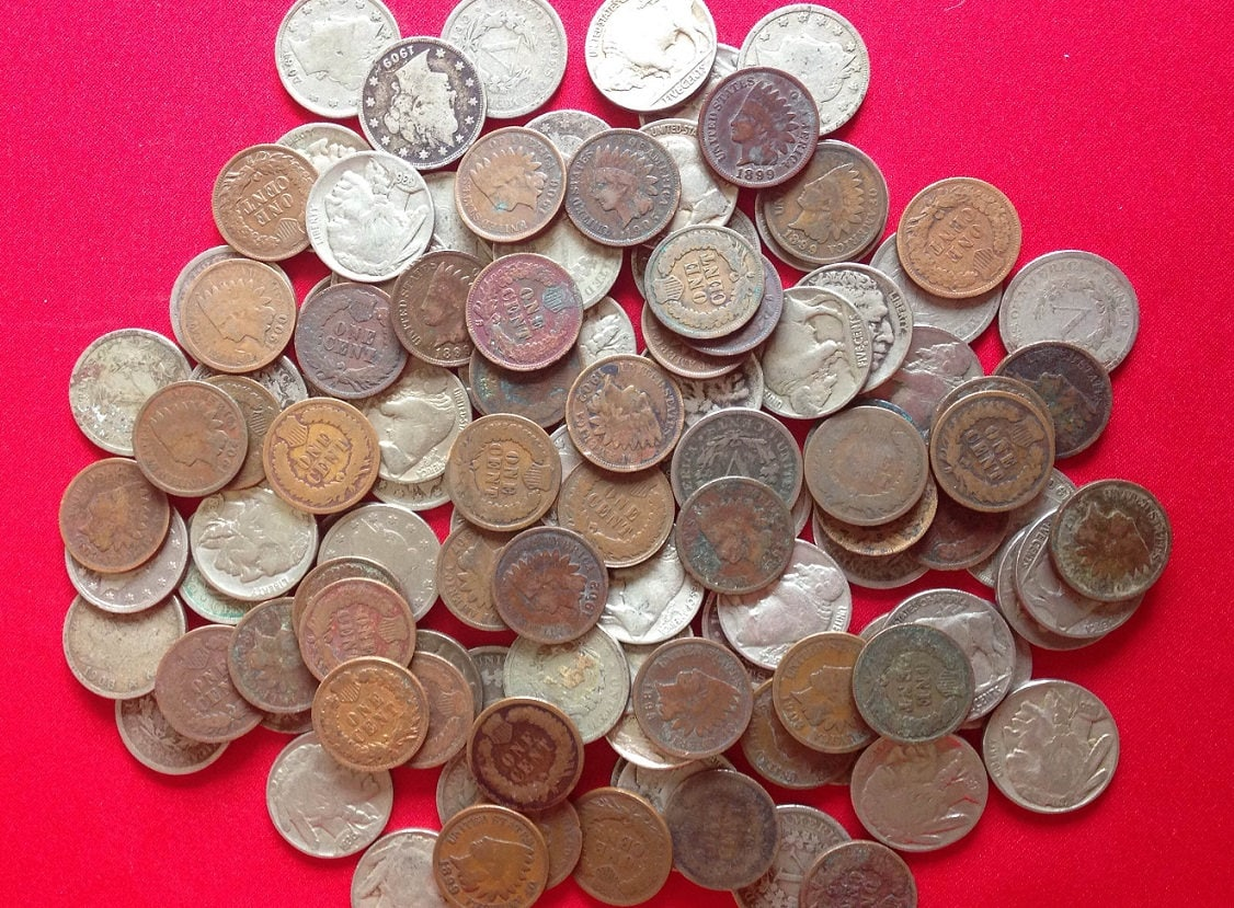 "Coins Estate Lot* Buffalo *Old U.S Indian Head Cent* /""V/""Nickel"