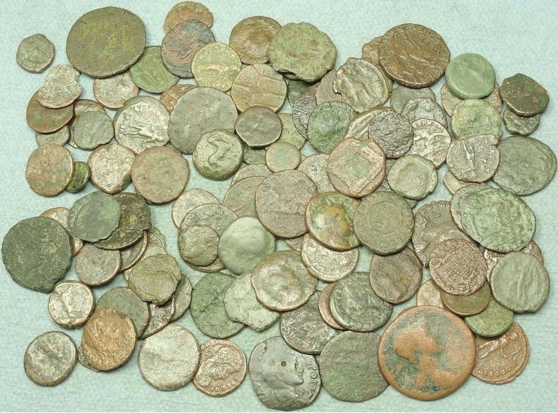 // Constantine the Great Era Lot of 10 Low Grade Ancient Roman Coins 330 A.D