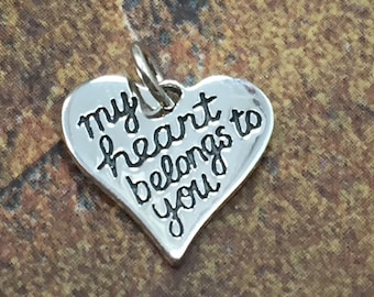 BFS308 My heart belongs to you Belongs to You Stainless Steel Charm