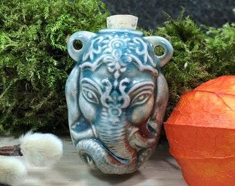 High Fire Ganesh Bottle Ganesh Bottle Elephant Bottle Elephant Pendant Ceramic Bottle Ganesh Pendant Peruvian Ceramic Bottle