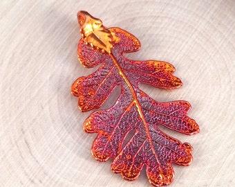 Oak Leaf Pendant, Copper Oak Leaf Pendant, Copper Oak  Leaf, Leaf Pendant, Nature Pendant, PC1201