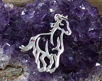 Horse Charm, Silver Charm, Horse Pendant, Horse Cut Out Charm, Running Horse Charm, Sterling Silver Charm, Horse Lover Charm