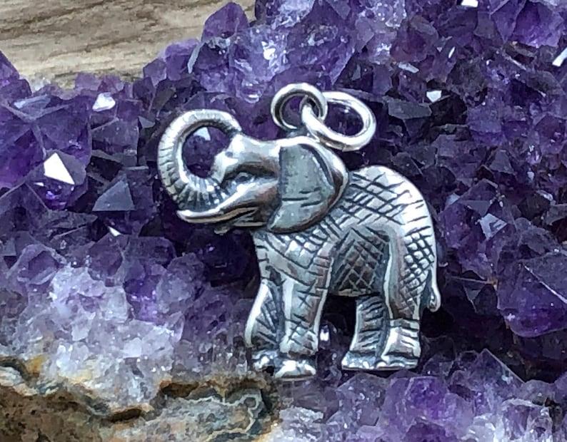Lucky Elephant Charm Silver Pendant Elephant Charm Sterling Silver Charm Elephant Charm Elephant Charm