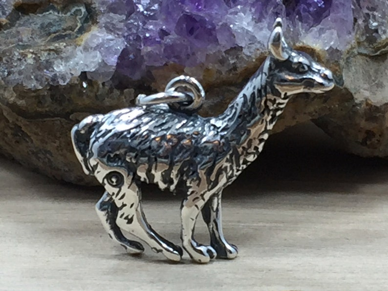 Llama Pendant Jewelry Supplies Llama Charm Sterling Silver Sterling Silver llama Charm