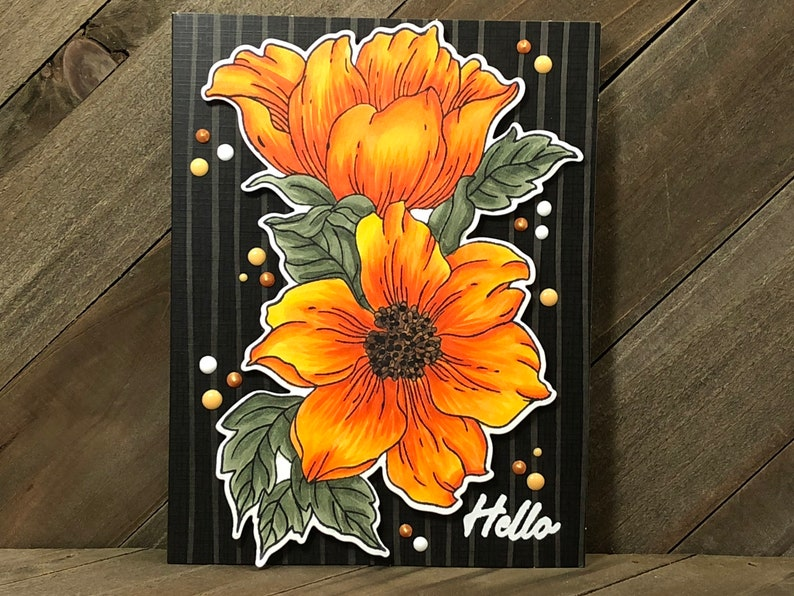 Hello Card Handmade Greeting Card Gardener Gift Greeting Card Handmade Cards Garden Lover Flowers Card