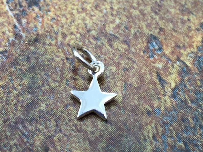 1 Piece Star Charm Tiny Star Charm Teeny Tiny Sterling Silver Star Charm