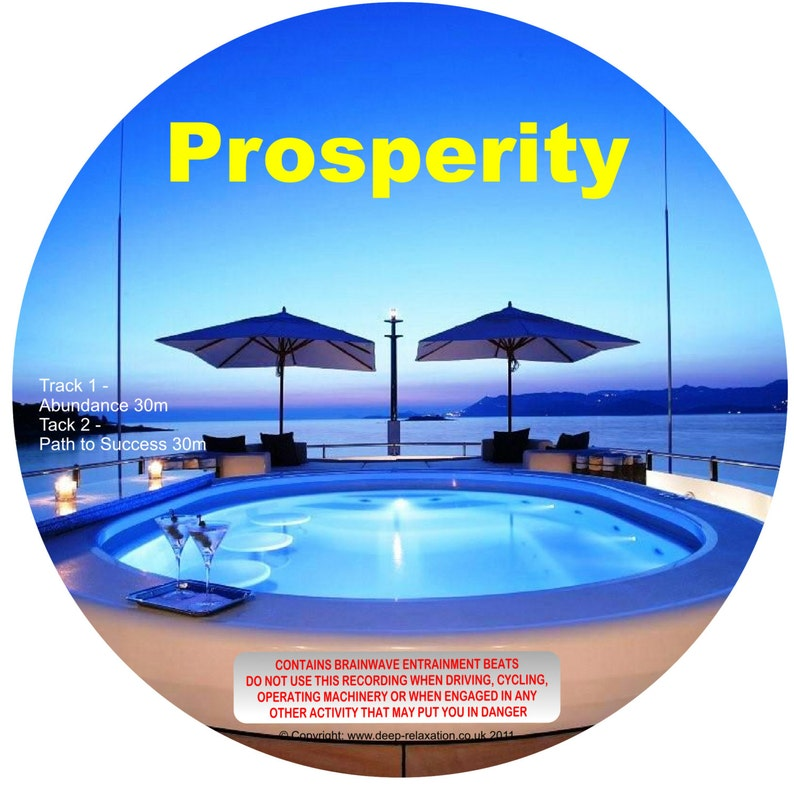 Prosperity mp3 - Hypnotic Induction with Binaural Beats - Instant Download