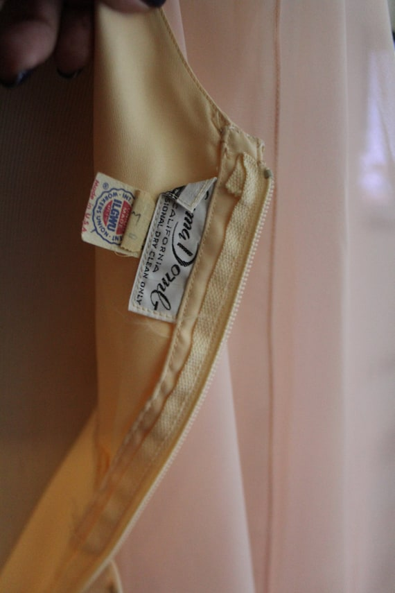 Collar 60's Domb California 70's Dress of Chiffon Event Vintage Sherbert Hollywood Ice Emma Maxi Drapery Shawl Cream AzwSqAx