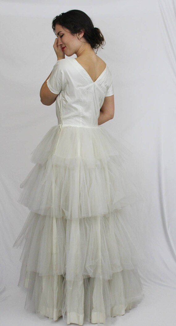 DRESS Cupcake Pinup Tiered Tulle Vintage 50\'s Outstanding WEDDING ...