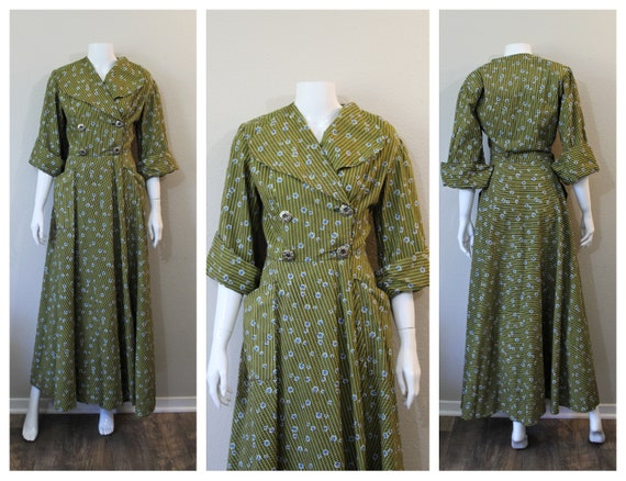 Vintage 1940s 50s Loungees House Dressing Gown wra
