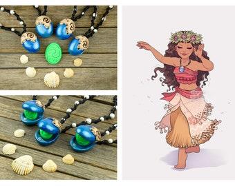 MOANA NECKLACE heart of the fiti Collana Moana cuore di Te Fiti riproduzione Oceania fan art cosplay collezione disney