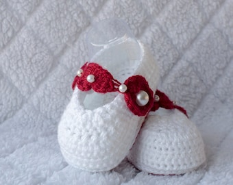 Valentine Girl Shoes, Valentine Girl Booties, Baby Girl Shoes, Girl Shoes, Baby Girl Booties, Girl Booties, Photo Prop, Baptism Girl Shoes