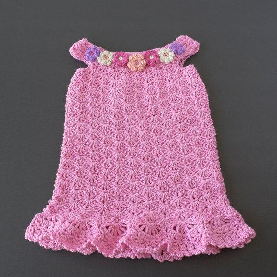 Baby Kleid Rosa Baby Baby Kleid häkeln Baby Mädchen Kleid