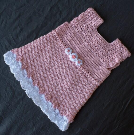 Rosa Kleid Häkeln Baby Baby Kleid Häkeln Häkeln Pfirsich Etsy