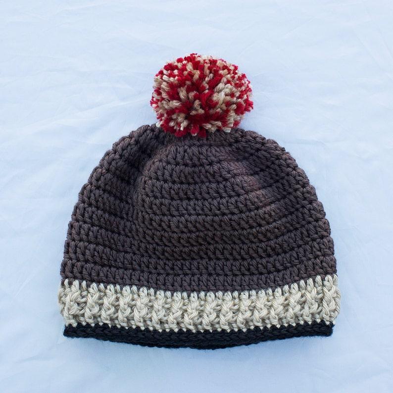 19e6a28c46f9c Crochet chapeau bébé garçon Bonnet au Crochet bonnet pompon