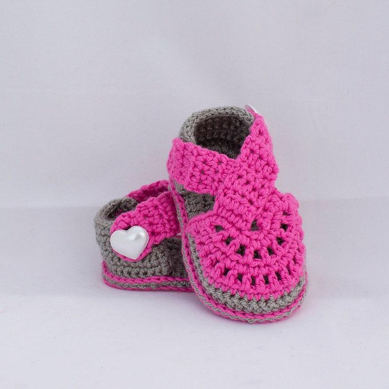 53fe05822 Crochet sandalias bebé sandalias de chica de bebé zapatos de