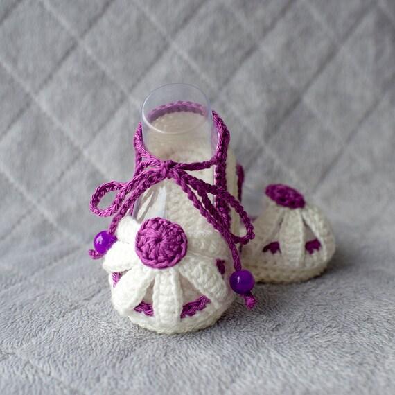 Häkeln Sie Häkeln Daisy Sandalen Häkeln Baby Schuhe Blume Etsy