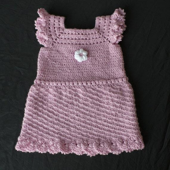 Roze Jurk Gehaakte Baby Kleding Baby Meisje Jurkje Haak Etsy