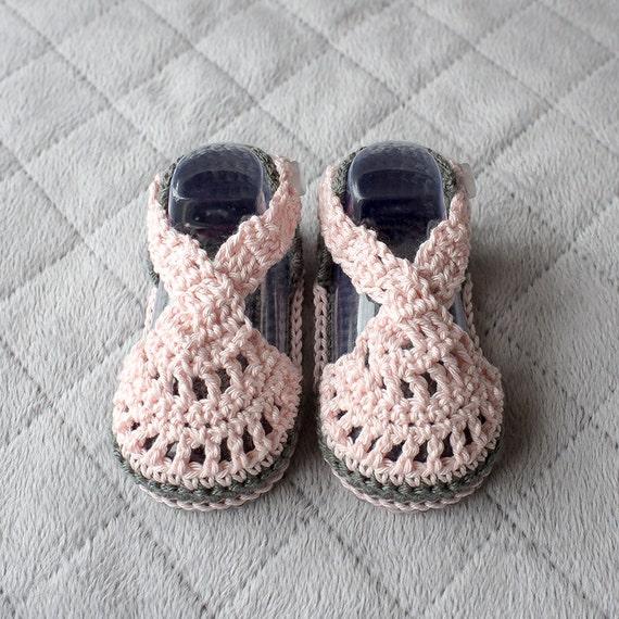 Häkeln Sie Babysandalen Baby Mädchen Sandalen Etsy