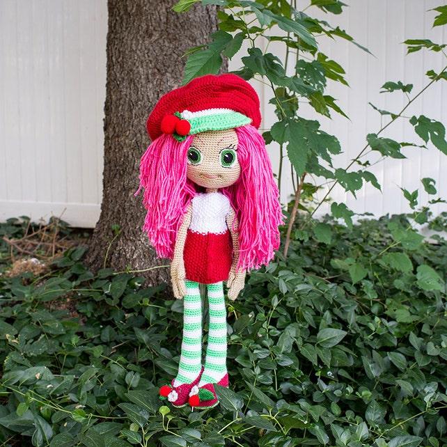 Strawberry Shortcake inspirado muñeca del ganchillo | Etsy