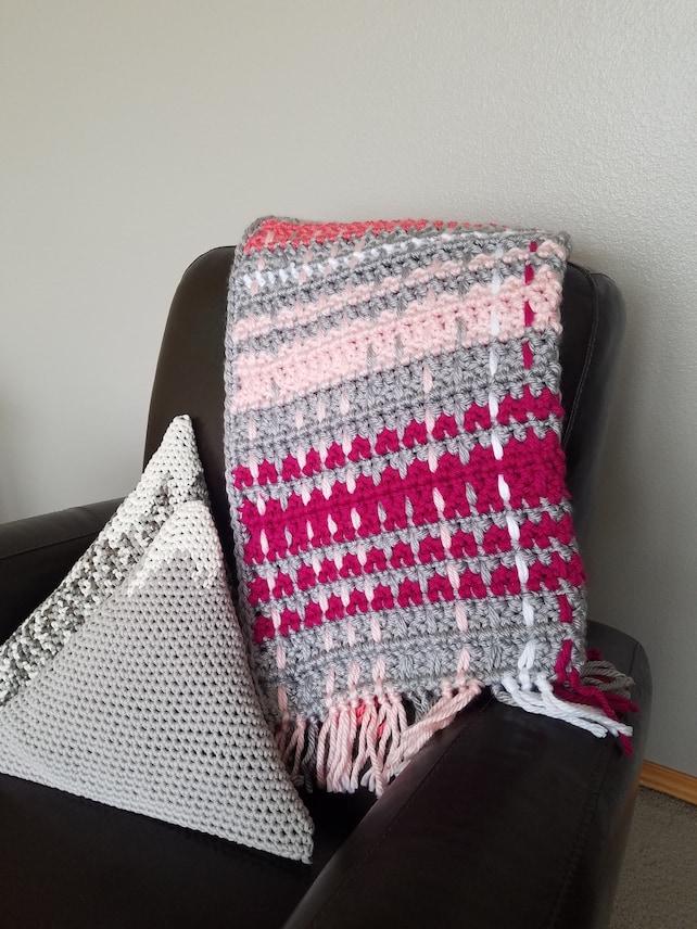 Crochet Pattern Pdf Woven Celtic Baby Blanket Make Your Own Etsy