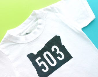 State Codes Baby + Toddler + Adult Tee: area code shirt | gender neutral | baby girl | baby boy | baby clothes | newborn | baby shower gift