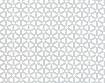Cotton Quilt Fabric by the yard, Modern Background Paper Hexagon Wheels Grey by Zen Chic for Moda Fabrics, 1585 13
