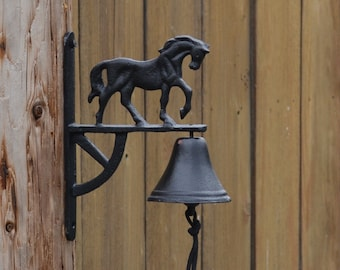 Horse Bell. Horse Decor. Horse Dinner Bell. Horse Door Bell. Western Dinner