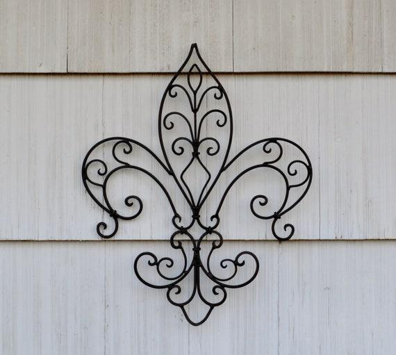 Large Fleur De Lis Wall Decor Metal Fleur De Lis Decor Etsy