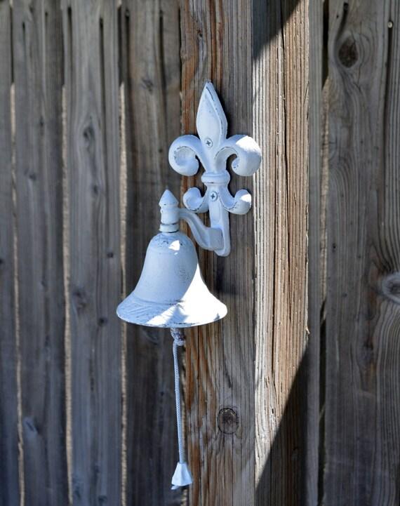 Fleur De Lis Bell Cast Iron Dinner Bell Door Bell Porch Bell Kitchen Bell Kitchen Decor Wall Decor Victorian Bell Parisian Decor
