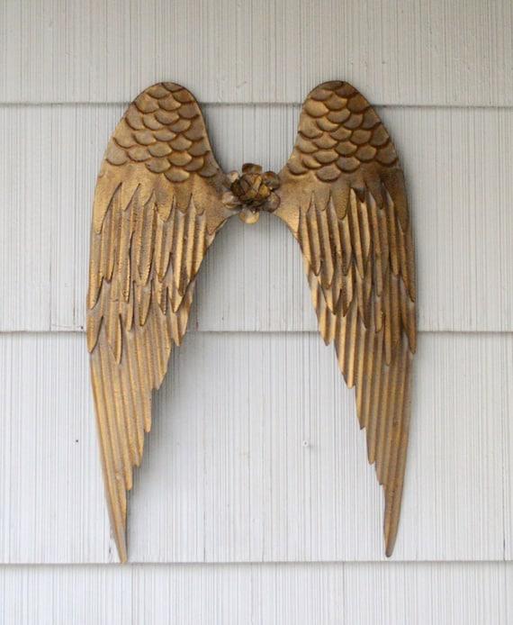 Angels Wings Wall Art. Angel Wall Decor. Metal Angel Wings. | Etsy