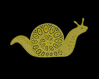 Gold Snail: Original work on paper
