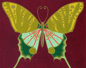 Butterfly #4-ORIGINAL painting/colorful butterfly